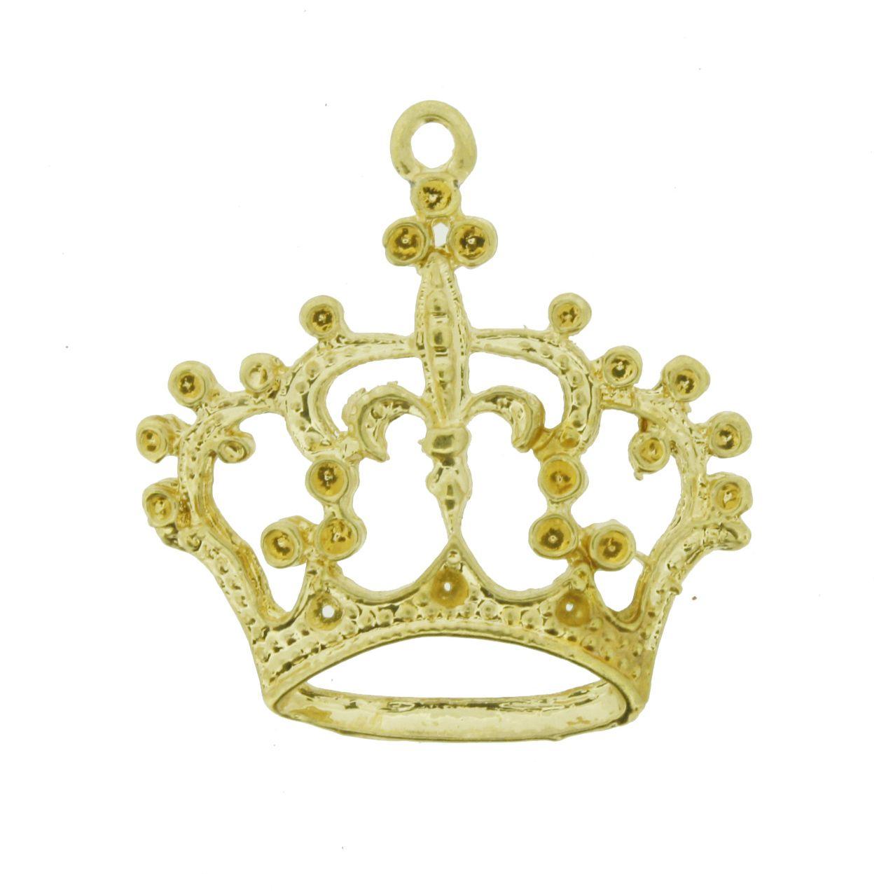 Coroa Dourada - 28mm  - Universo Religioso® - Artigos de Umbanda e Candomblé
