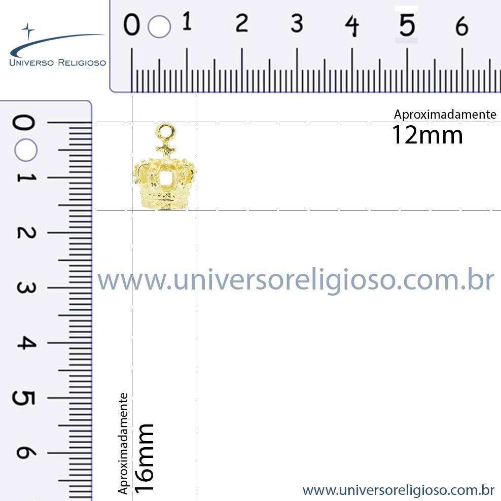 Coroa Níquel - 16mm  - Universo Religioso® - Artigos de Umbanda e Candomblé