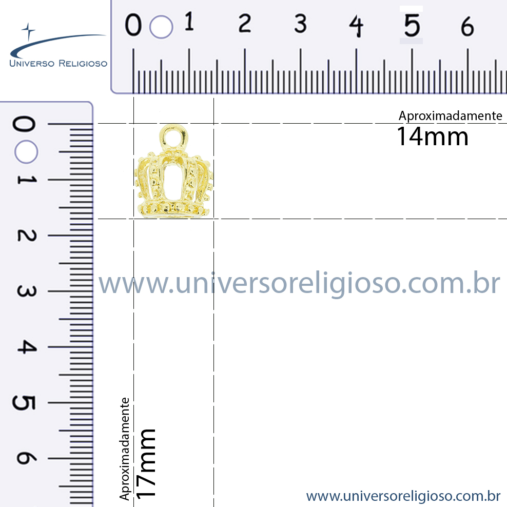 Coroa Níquel - 17mm  - Universo Religioso® - Artigos de Umbanda e Candomblé