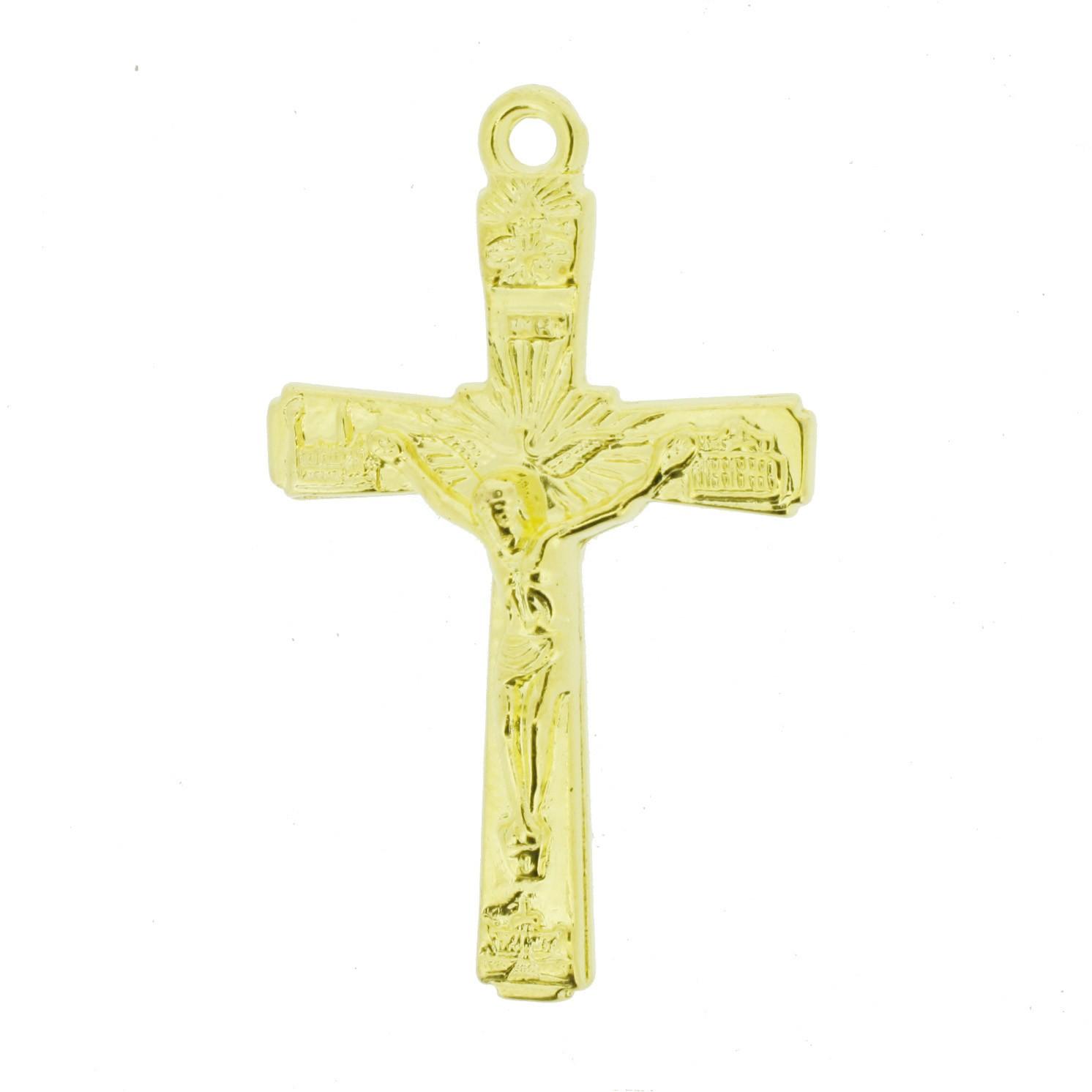 Crucifixo - ABS - Dourado - 5,0cm - 10 Peças  - Universo Religioso® - Artigos de Umbanda e Candomblé