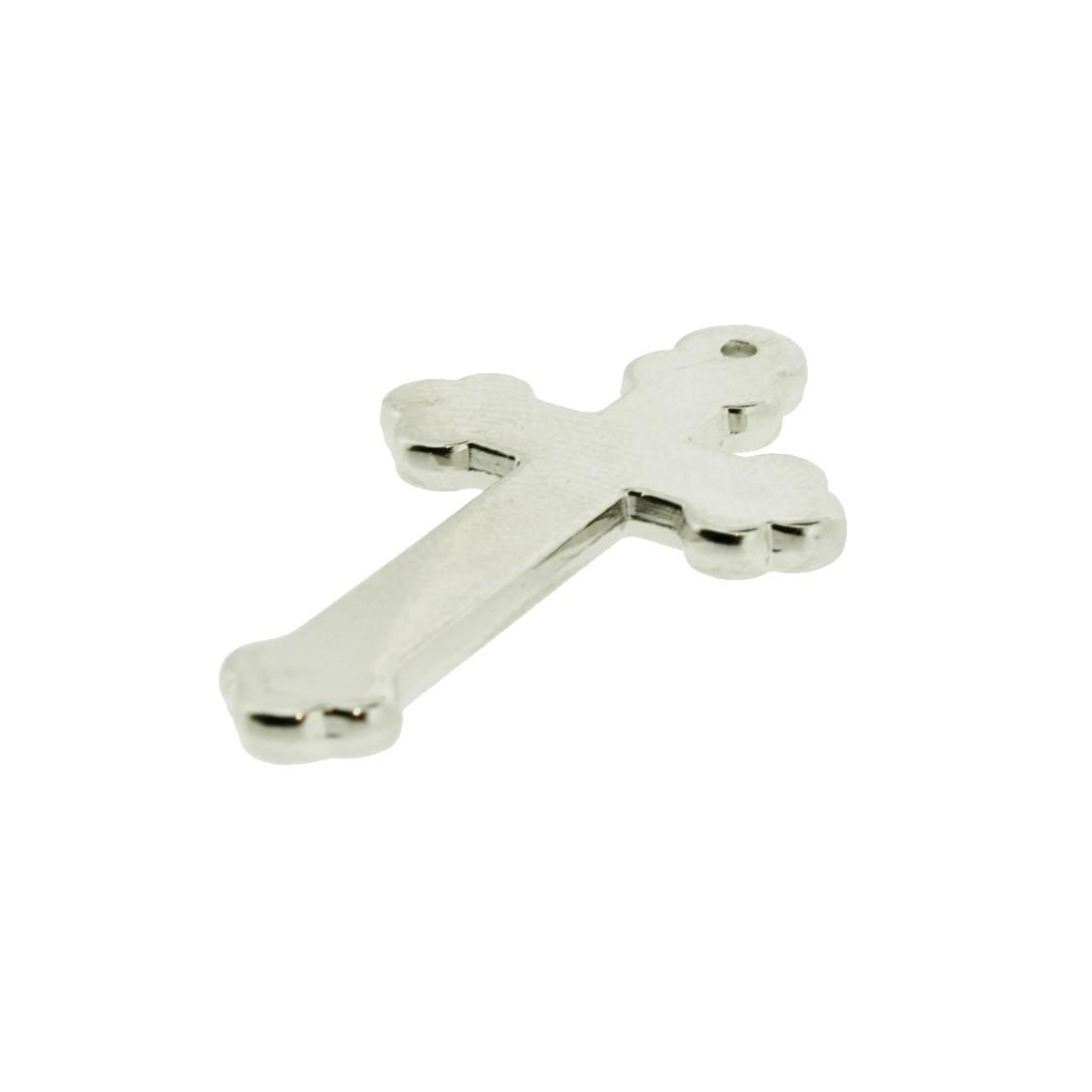 Crucifixo - ABS - Níquel - 3,5cm - 10 Peças  - Universo Religioso® - Artigos de Umbanda e Candomblé