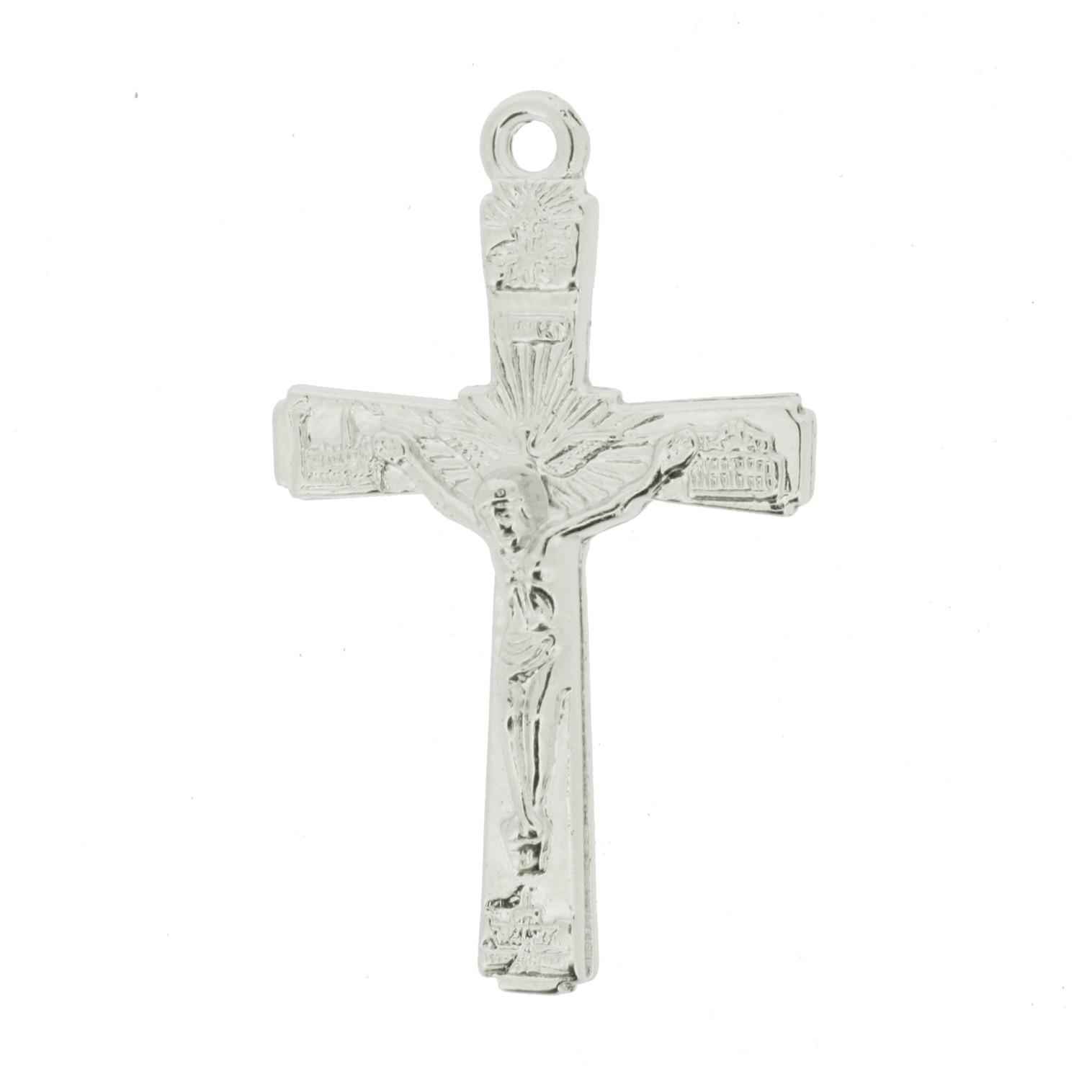 Crucifixo - ABS - Níquel - 5,0cm - 10 Peças  - Universo Religioso® - Artigos de Umbanda e Candomblé