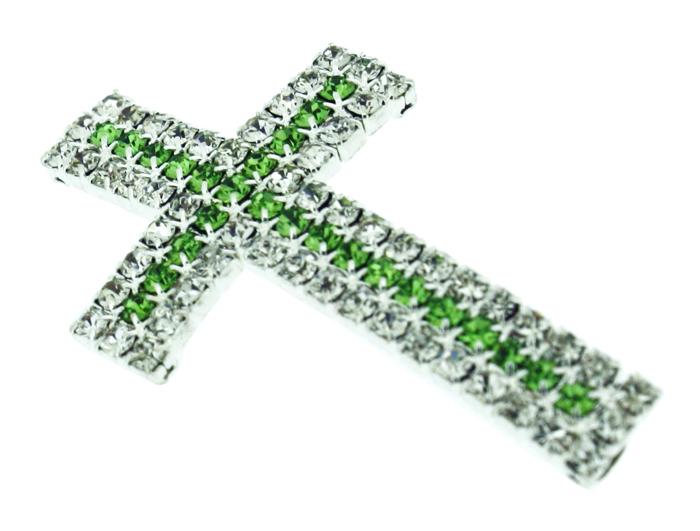Crucifixo Curvo para Pulseira - Metal com Strass - Níquel - 4,1cm - 01 Peça  - Universo Religioso® - Artigos de Umbanda e Candomblé
