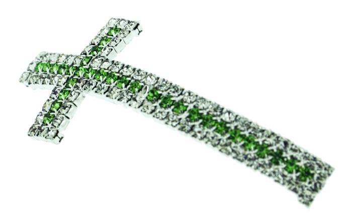 Crucifixo Curvo para Pulseira - Metal com Strass - Níquel - 5,3cm - 01 Peça  - Universo Religioso® - Artigos de Umbanda e Candomblé