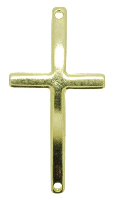 Crucifixo Curvo para Pulseira - Metal - Dourado - 5cm - 01 Peça  - Universo Religioso® - Artigos de Umbanda e Candomblé