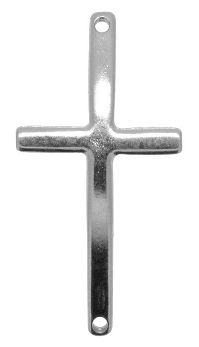 Crucifixo Curvo para Pulseira - Metal - Níquel - 5cm - 01 Peça  - Universo Religioso® - Artigos de Umbanda e Candomblé