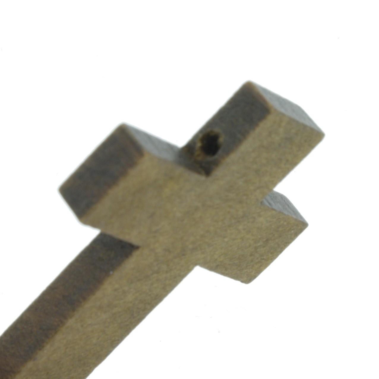 Crucifixo Madeira - Imbuia - 43mm  - Universo Religioso® - Artigos de Umbanda e Candomblé
