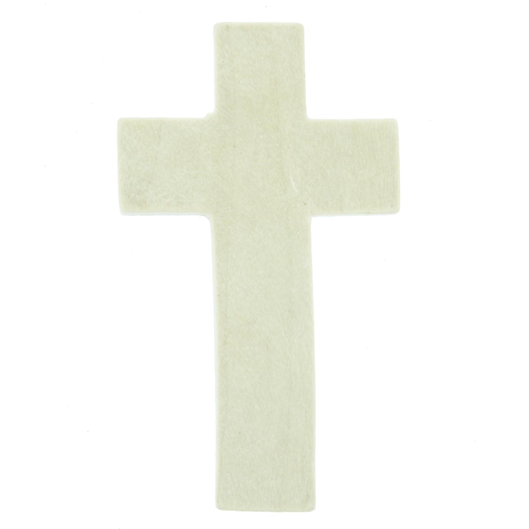 Crucifixo Madeira - Marfim - 43mm  - Universo Religioso® - Artigos de Umbanda e Candomblé