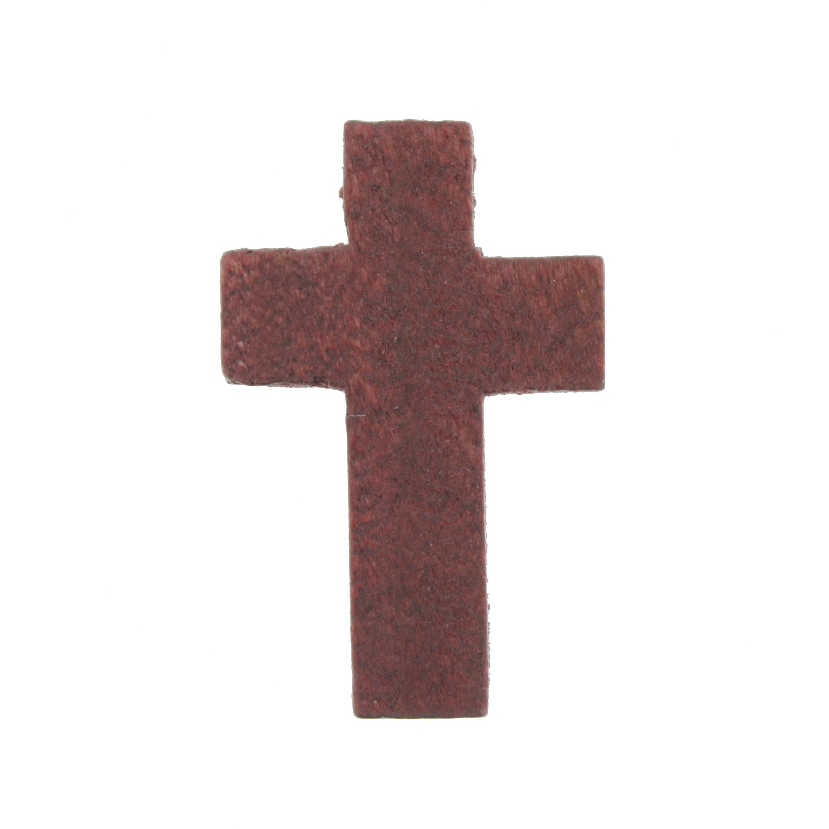 Crucifixo Madeira - Mogno - 34mm  - Universo Religioso® - Artigos de Umbanda e Candomblé