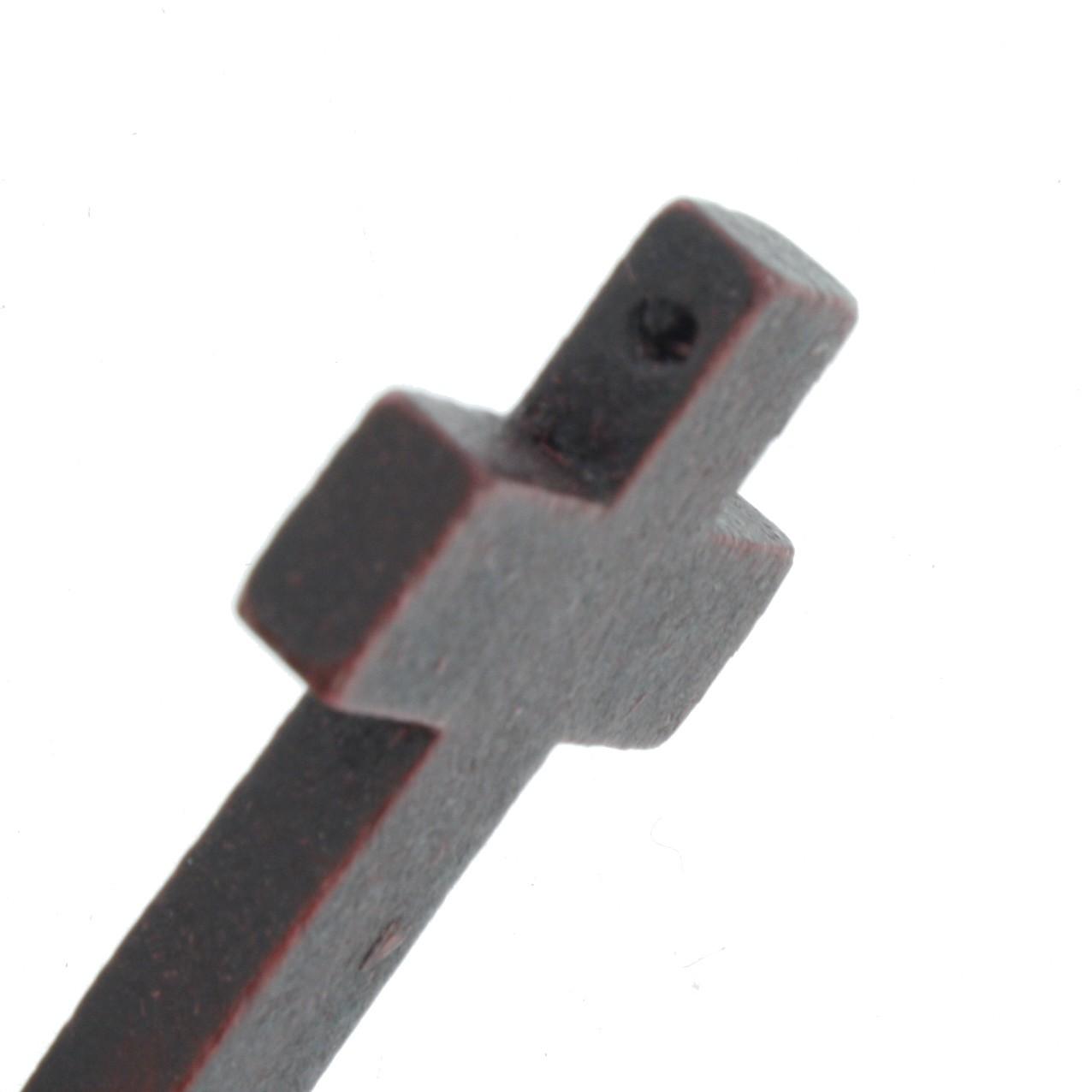 Crucifixo Madeira - Mogno - 43mm  - Universo Religioso® - Artigos de Umbanda e Candomblé