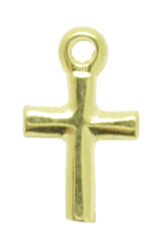 Crucifixo - Metal - Dourado - 1,4cm - 20 Peças  - Universo Religioso® - Artigos de Umbanda e Candomblé