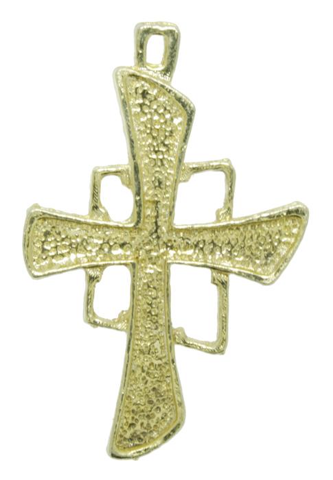 Crucifixo - Metal - Dourado - 4,5cm - 01 Peça  - Universo Religioso® - Artigos de Umbanda e Candomblé