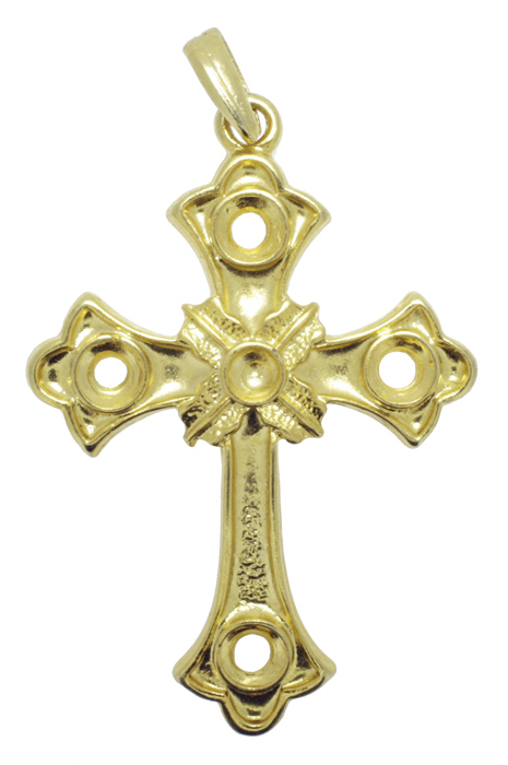 Crucifixo - Metal - Dourado - 8cm - 01 Peça  - Universo Religioso® - Artigos de Umbanda e Candomblé