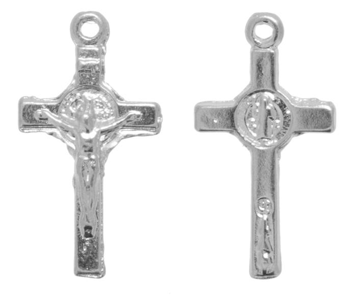 Crucifixo - Metal - Níquel - 2,3cm - 10 Peças  - Universo Religioso® - Artigos de Umbanda e Candomblé
