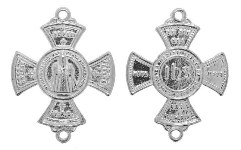 Crucifixo - Metal - Níquel - 3,7cm - 20 Peças  - Universo Religioso® - Artigos de Umbanda e Candomblé