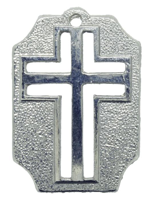 Crucifixo - Metal - Níquel - 4,5cm - 01 Peça  - Universo Religioso® - Artigos de Umbanda e Candomblé