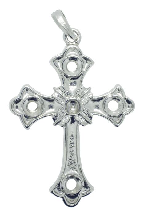 Crucifixo - Metal - Níquel - 8cm - 01 Peça  - Universo Religioso® - Artigos de Umbanda e Candomblé