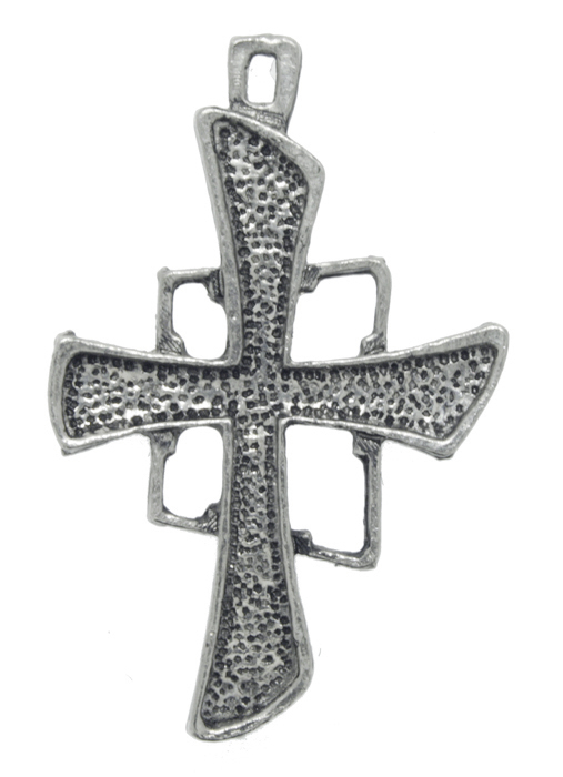 Crucifixo - Metal - Níquel Velho - 4,5cm - 01 Peça  - Universo Religioso® - Artigos de Umbanda e Candomblé