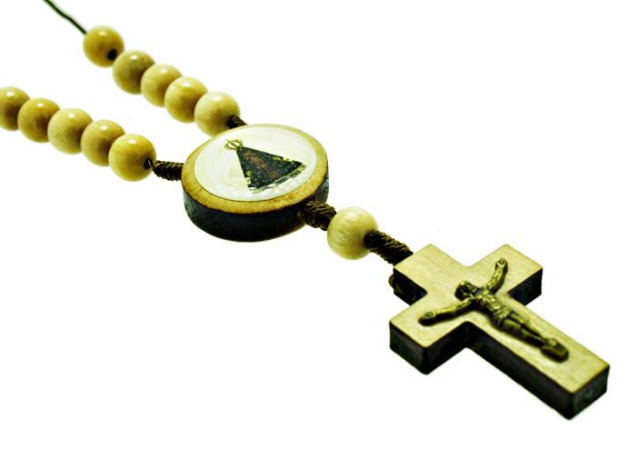 Dezena de Madeira para carro - Nossa Senhora Aparecida - Marfim  - Universo Religioso® - Artigos de Umbanda e Candomblé