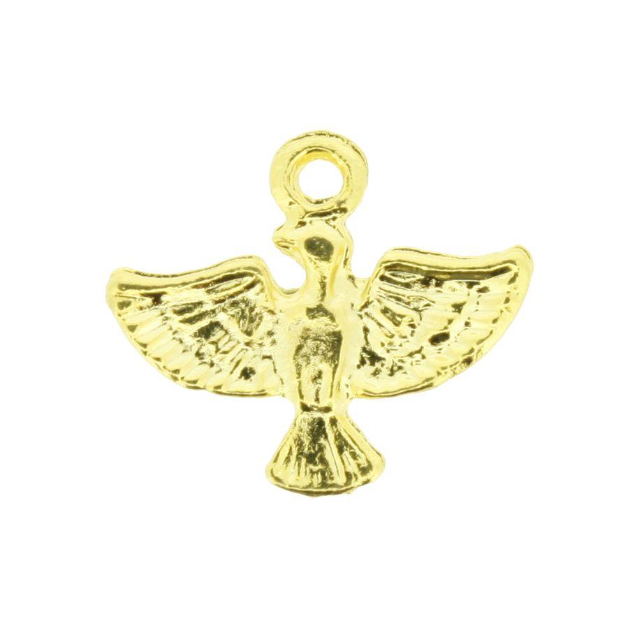 Divino Espírito Santo - Dourado - 15mm  - Universo Religioso® - Artigos de Umbanda e Candomblé