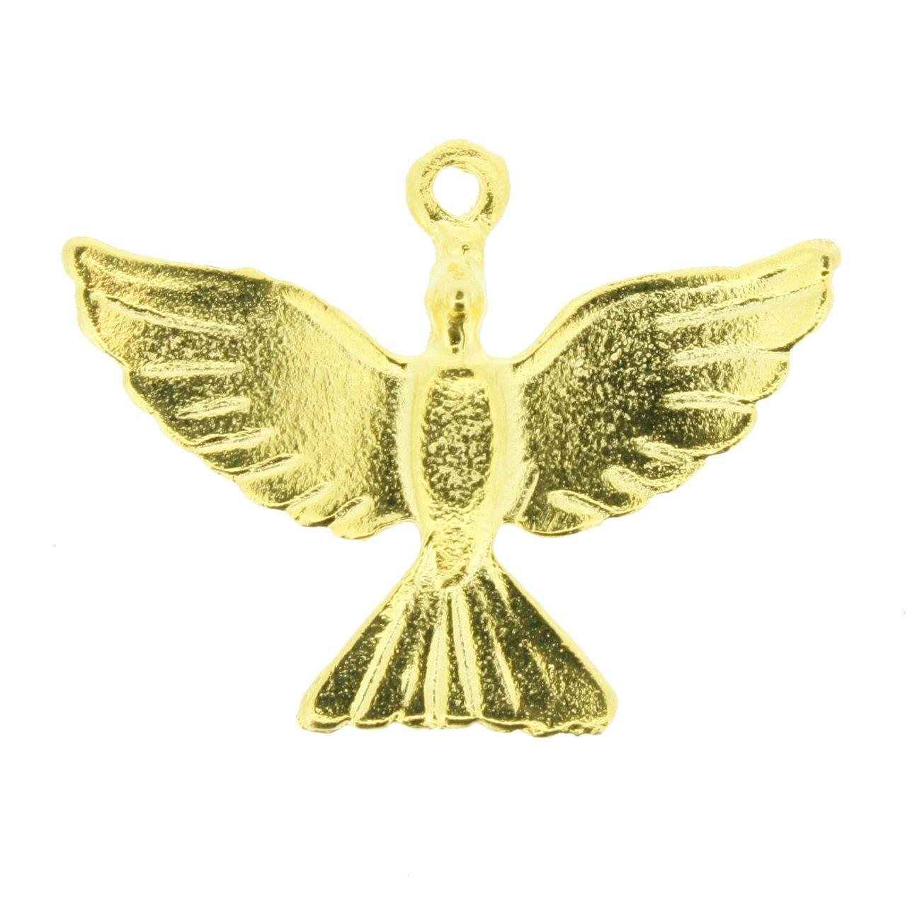 Divino Espírito Santo - Dourado - 24mm  - Universo Religioso® - Artigos de Umbanda e Candomblé