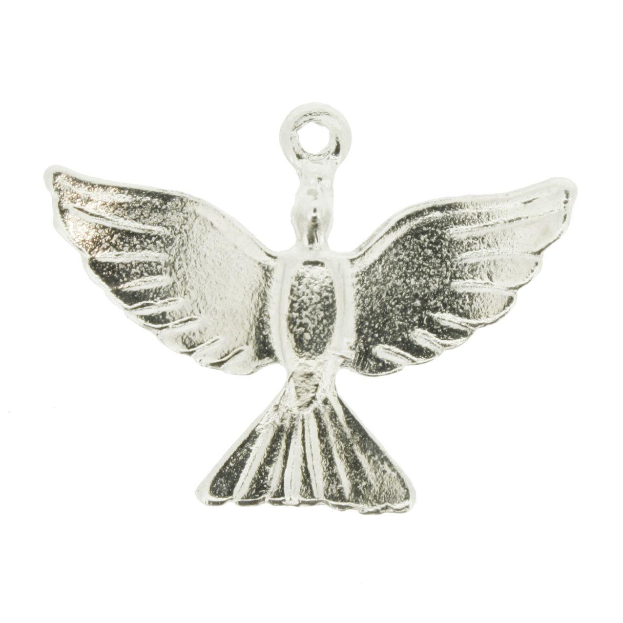 Divino Espírito Santo - Níquel - 24mm  - Universo Religioso® - Artigos de Umbanda e Candomblé