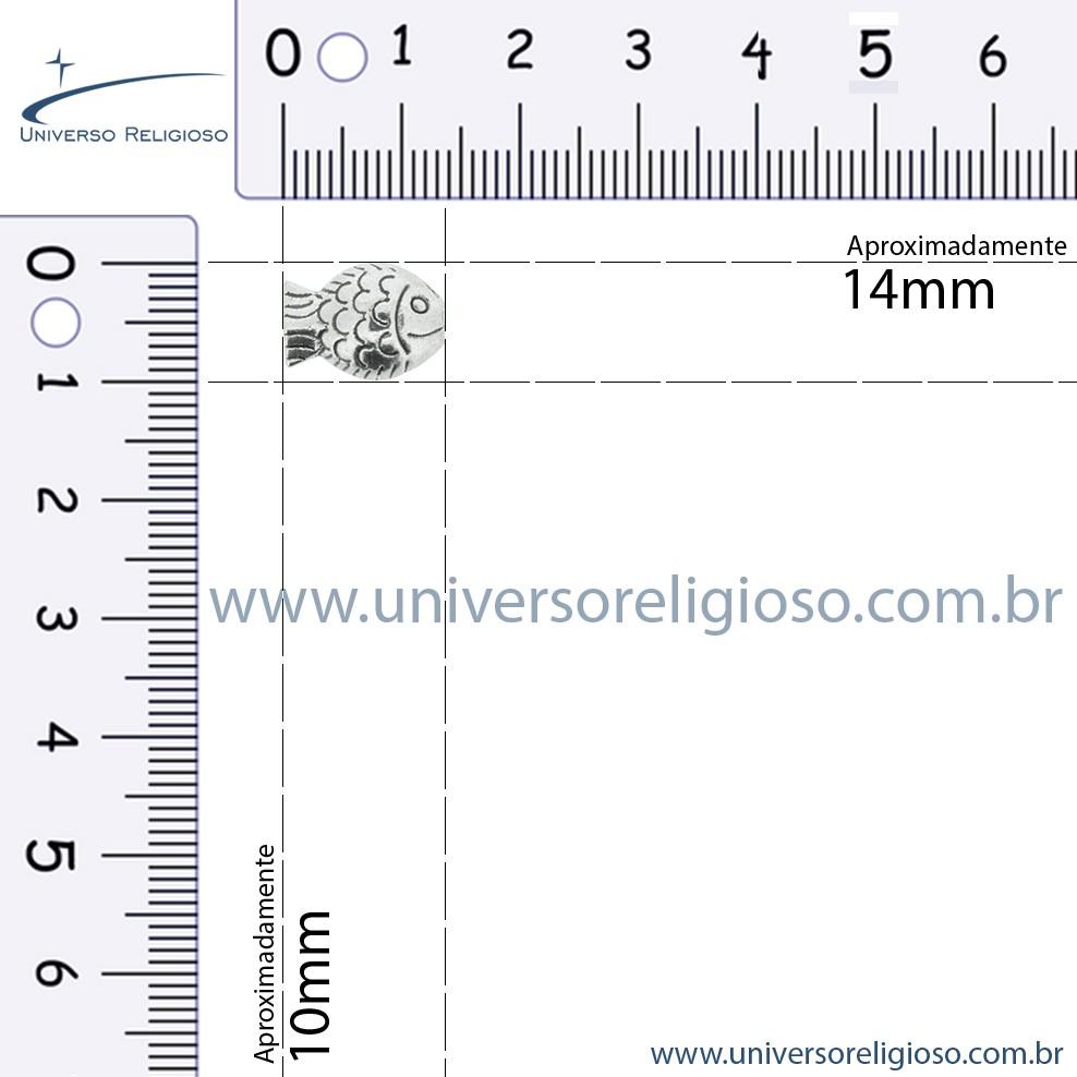 Entremeio - Peixe - Níquel - 10mm  - Universo Religioso® - Artigos de Umbanda e Candomblé