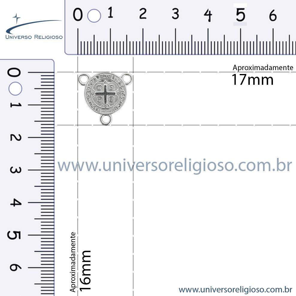 Entremeio Terço São Bento - Dourado - 16mm  - Universo Religioso® - Artigos de Umbanda e Candomblé