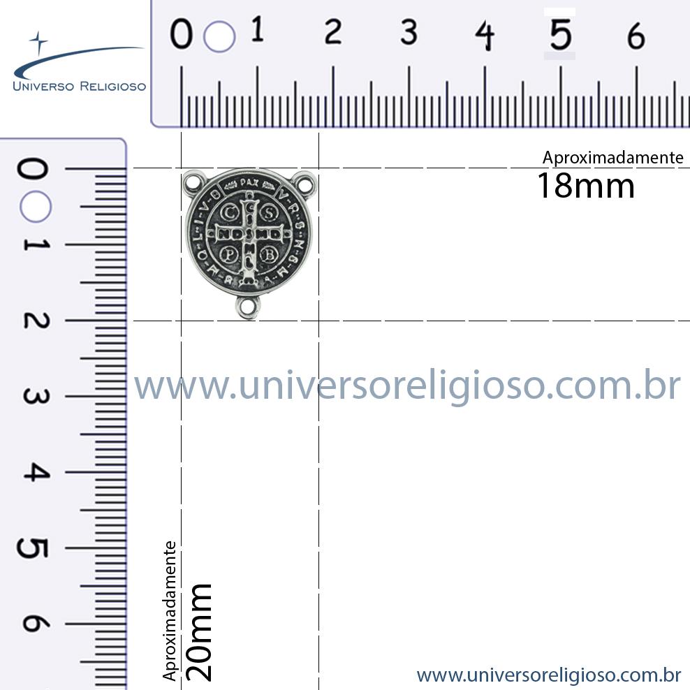 Entremeio Terço São Bento - Ouro Velho - 20mm  - Universo Religioso® - Artigos de Umbanda e Candomblé