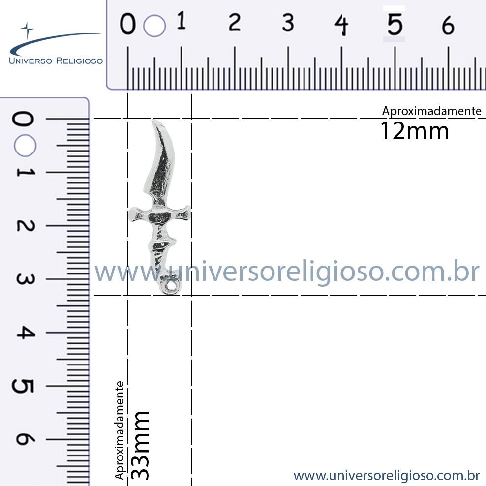 Espada - Adaga - Ouro Velho - 33mm  - Universo Religioso® - Artigos de Umbanda e Candomblé