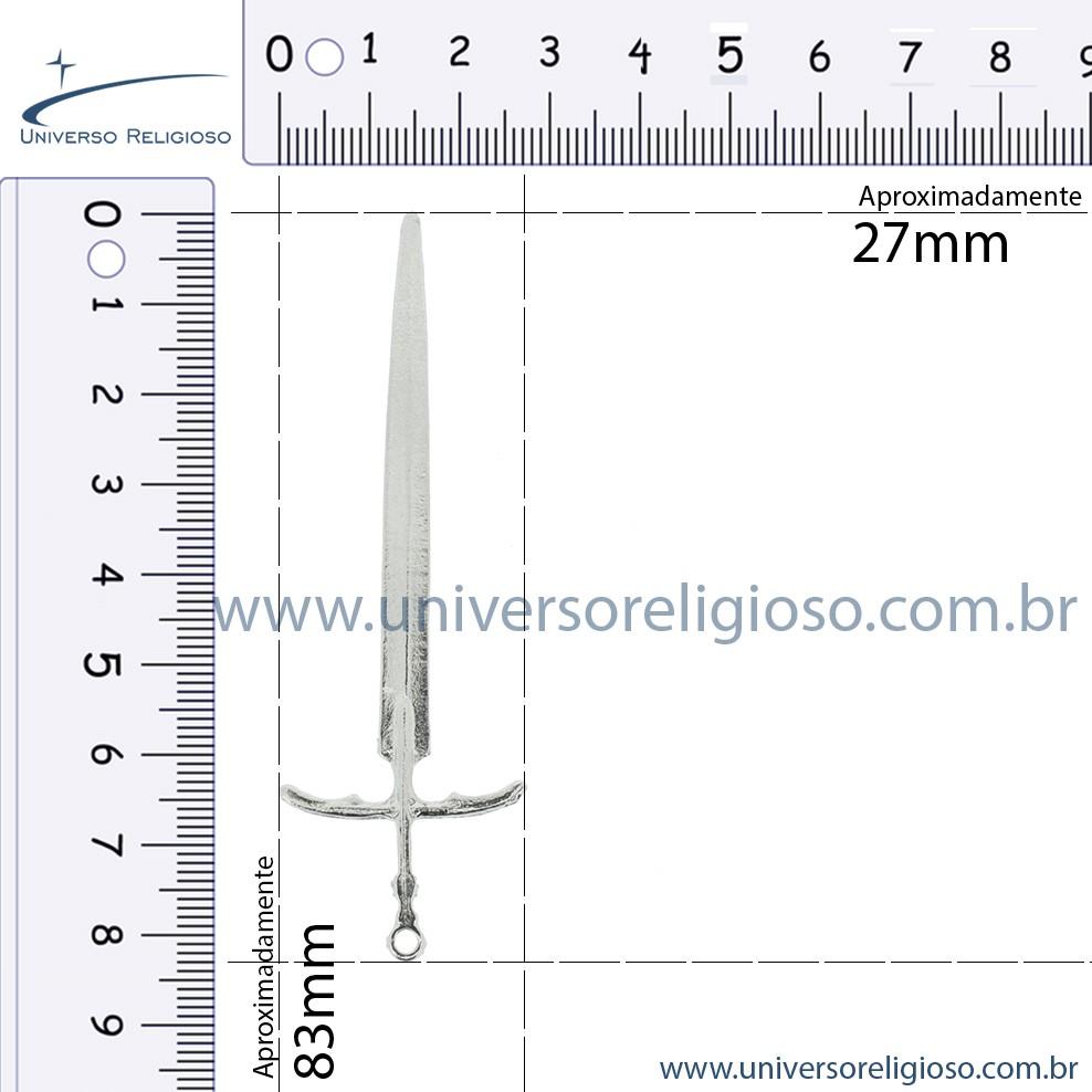Espada - Níquel - 83mm  - Universo Religioso® - Artigos de Umbanda e Candomblé
