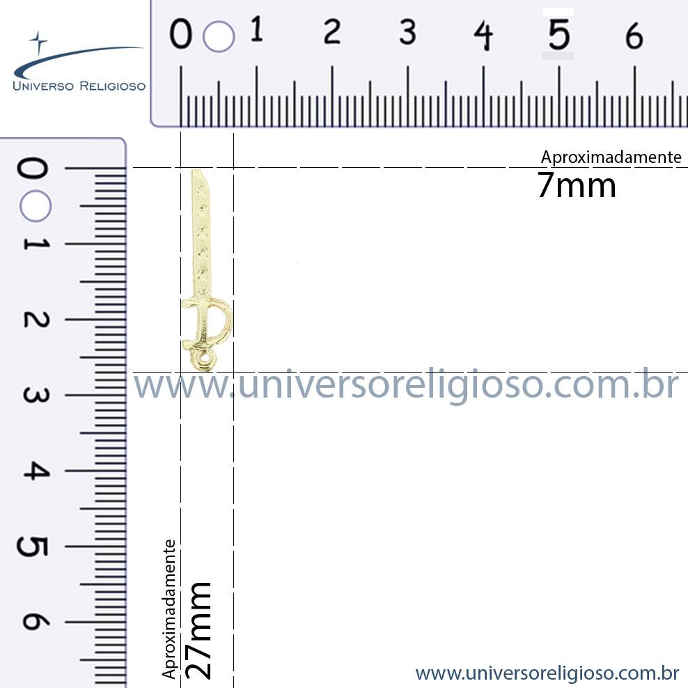 Espada Ogum - Ouro Velho - 27mm  - Universo Religioso® - Artigos de Umbanda e Candomblé