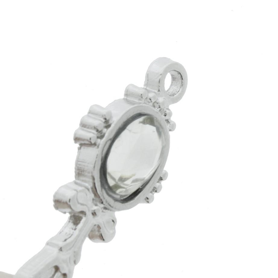 Espelho - Níquel Strass - 29mm  - Universo Religioso® - Artigos de Umbanda e Candomblé