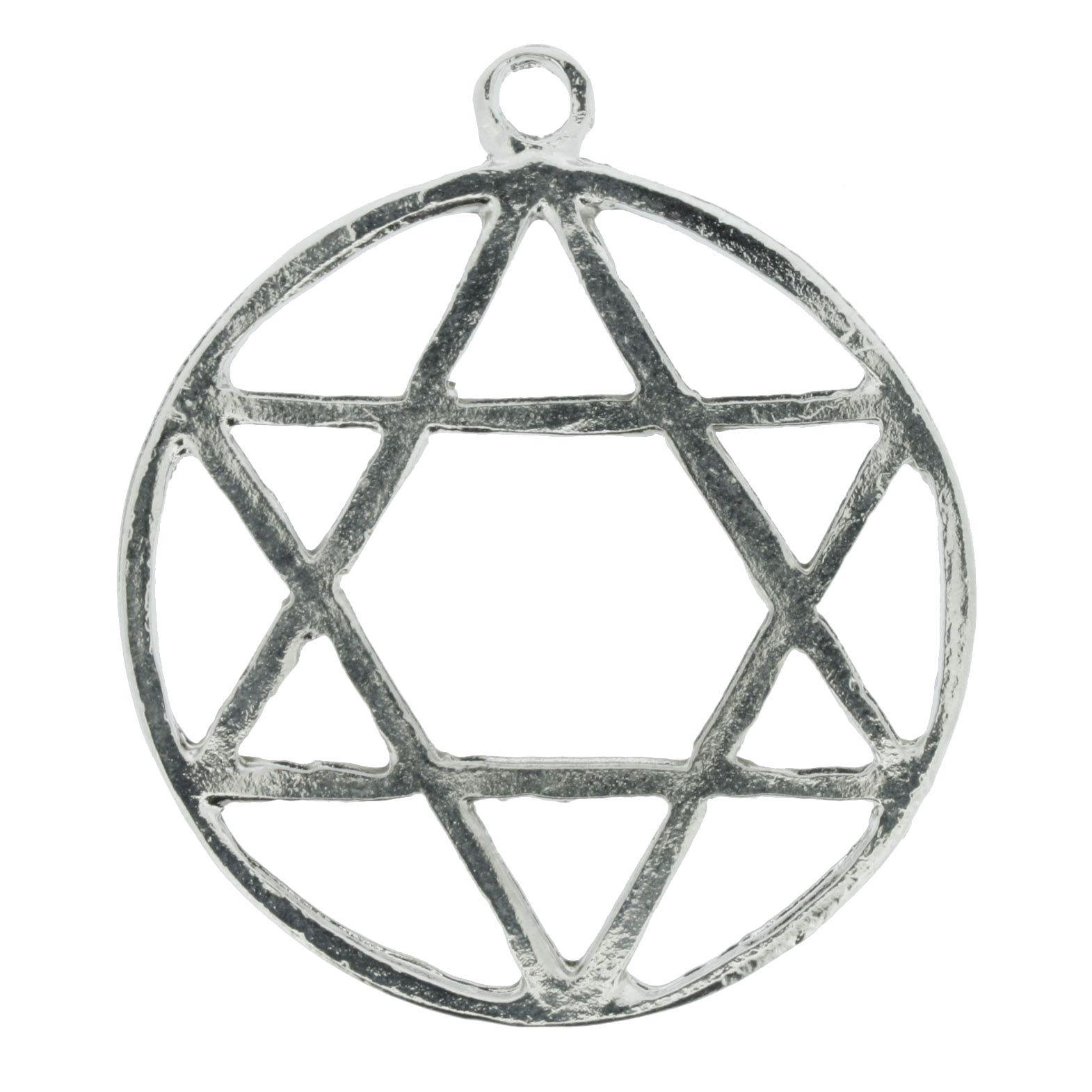 Estrela 6 Pontas - Níquel - 55mm  - Universo Religioso® - Artigos de Umbanda e Candomblé