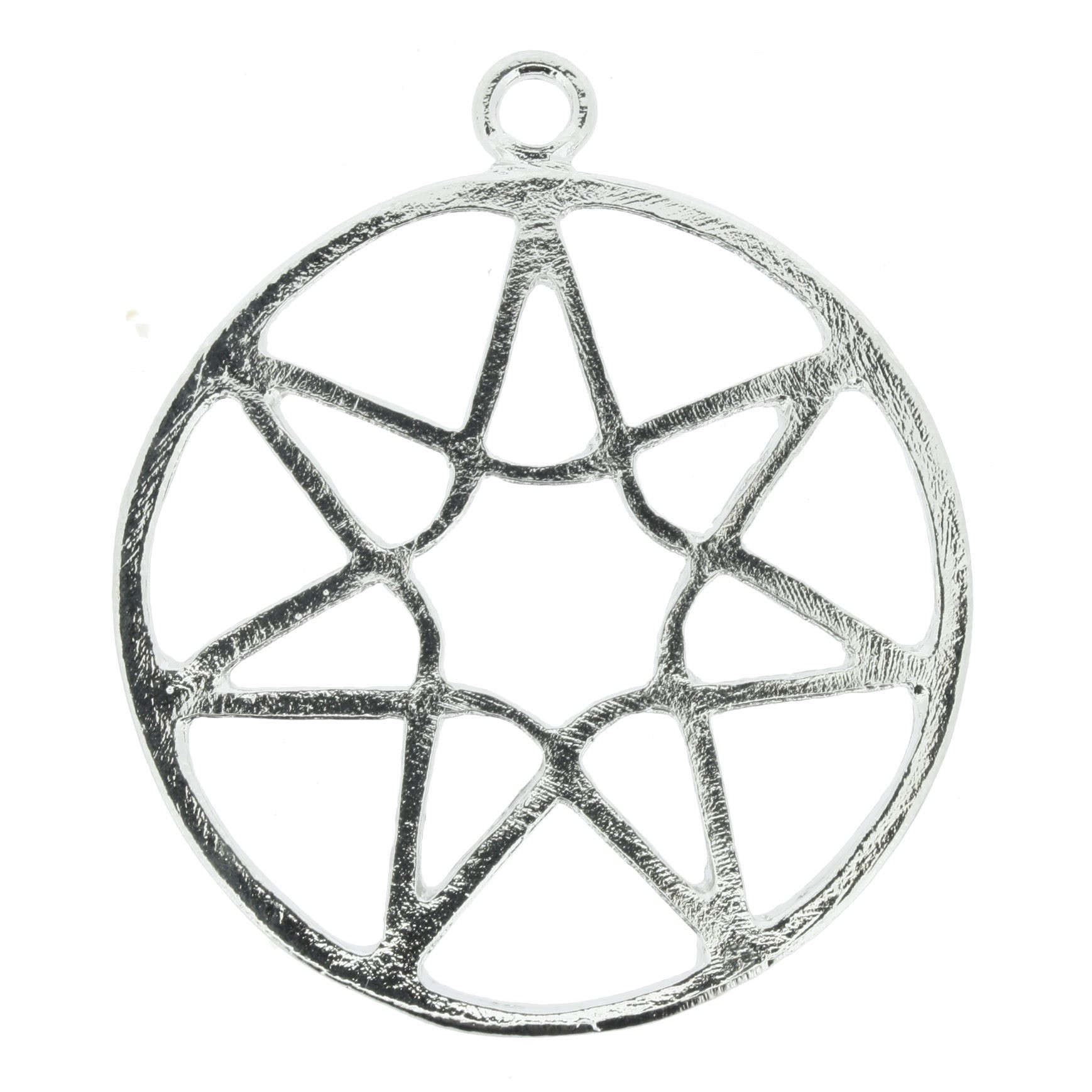 Estrela de 7 pontos - Níquel - 47mm  - Universo Religioso® - Artigos de Umbanda e Candomblé