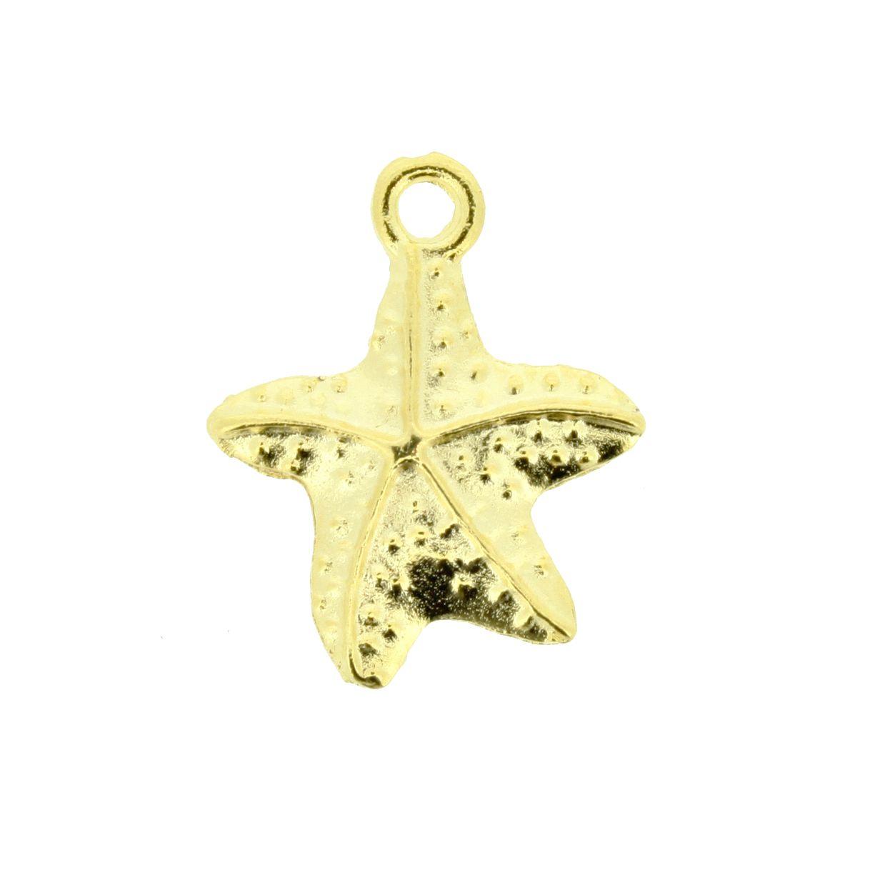 Estrela do Mar - Dourado - 21mm  - Universo Religioso® - Artigos de Umbanda e Candomblé