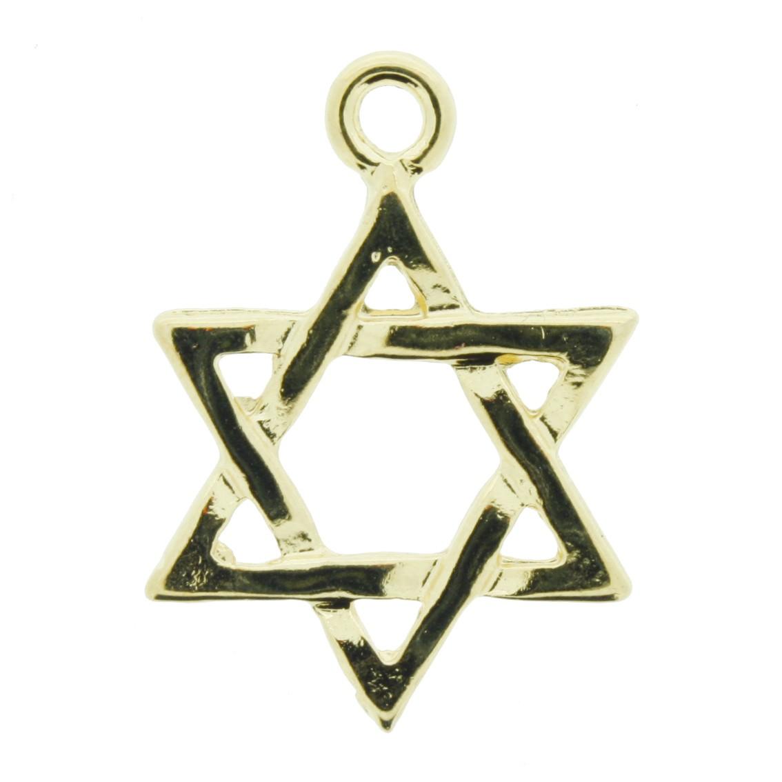 Estrela - Dourada - 28mm  - Universo Religioso® - Artigos de Umbanda e Candomblé