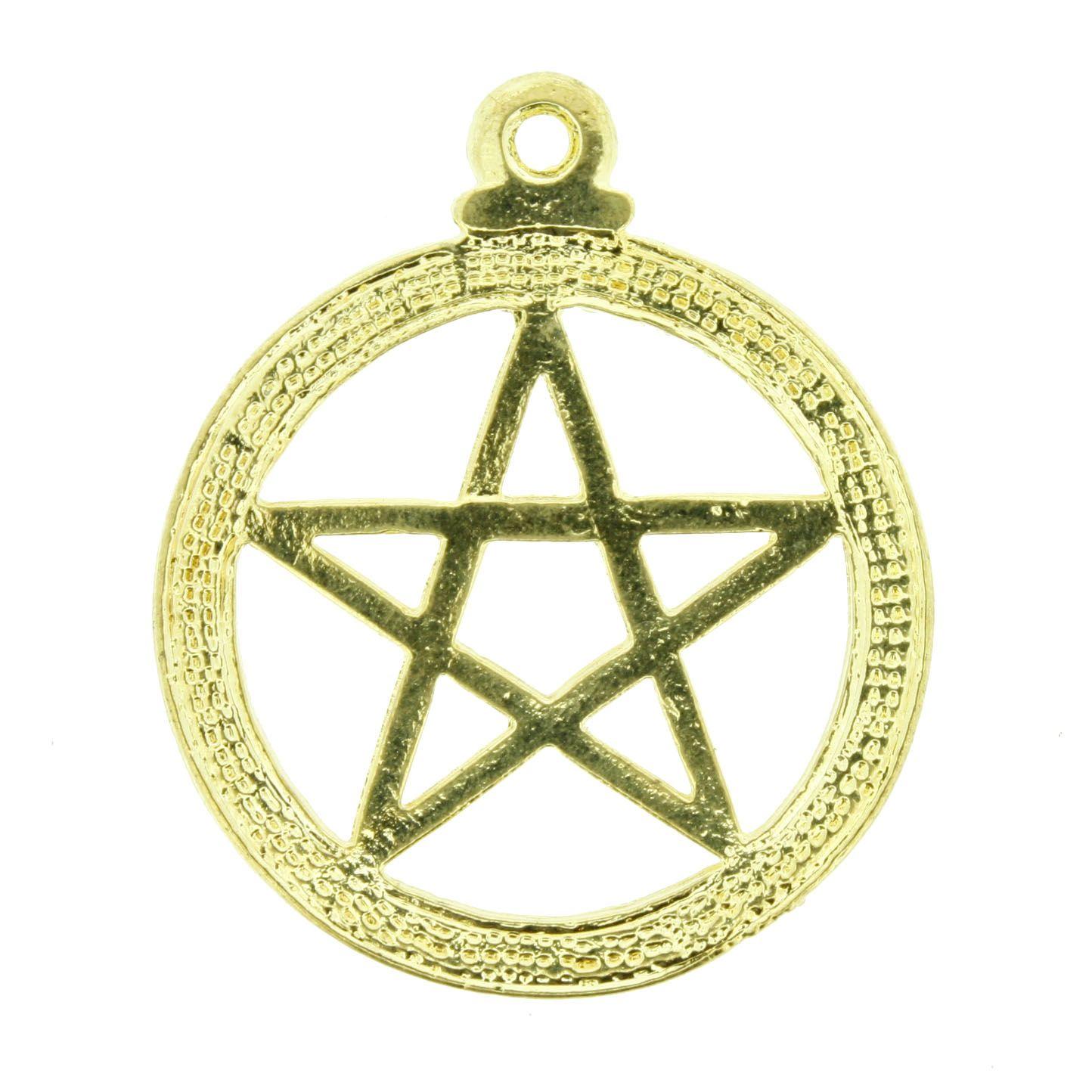 Estrela - Dourada - 35mm  - Universo Religioso® - Artigos de Umbanda e Candomblé