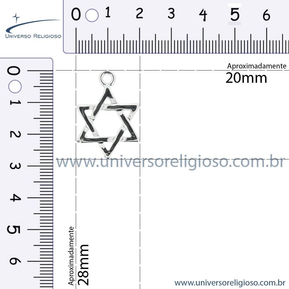 Estrela - Níquel - 28mm  - Universo Religioso® - Artigos de Umbanda e Candomblé
