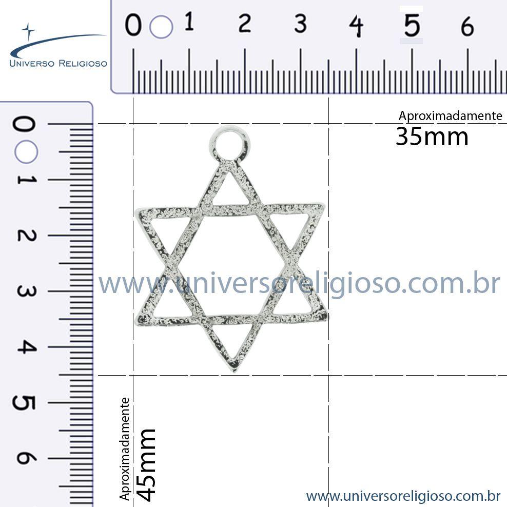 Estrela - Níquel - 45mm  - Universo Religioso® - Artigos de Umbanda e Candomblé
