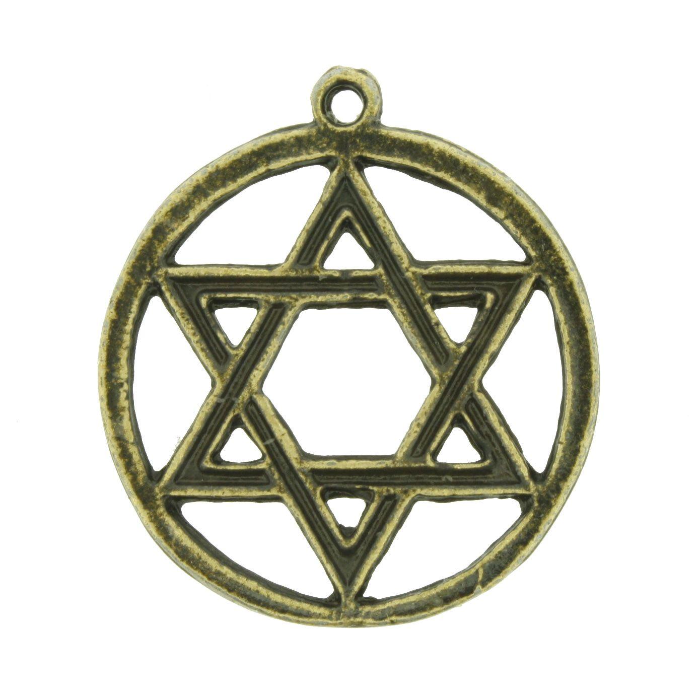 Estrela - Ouro Velho - 31mm  - Universo Religioso® - Artigos de Umbanda e Candomblé