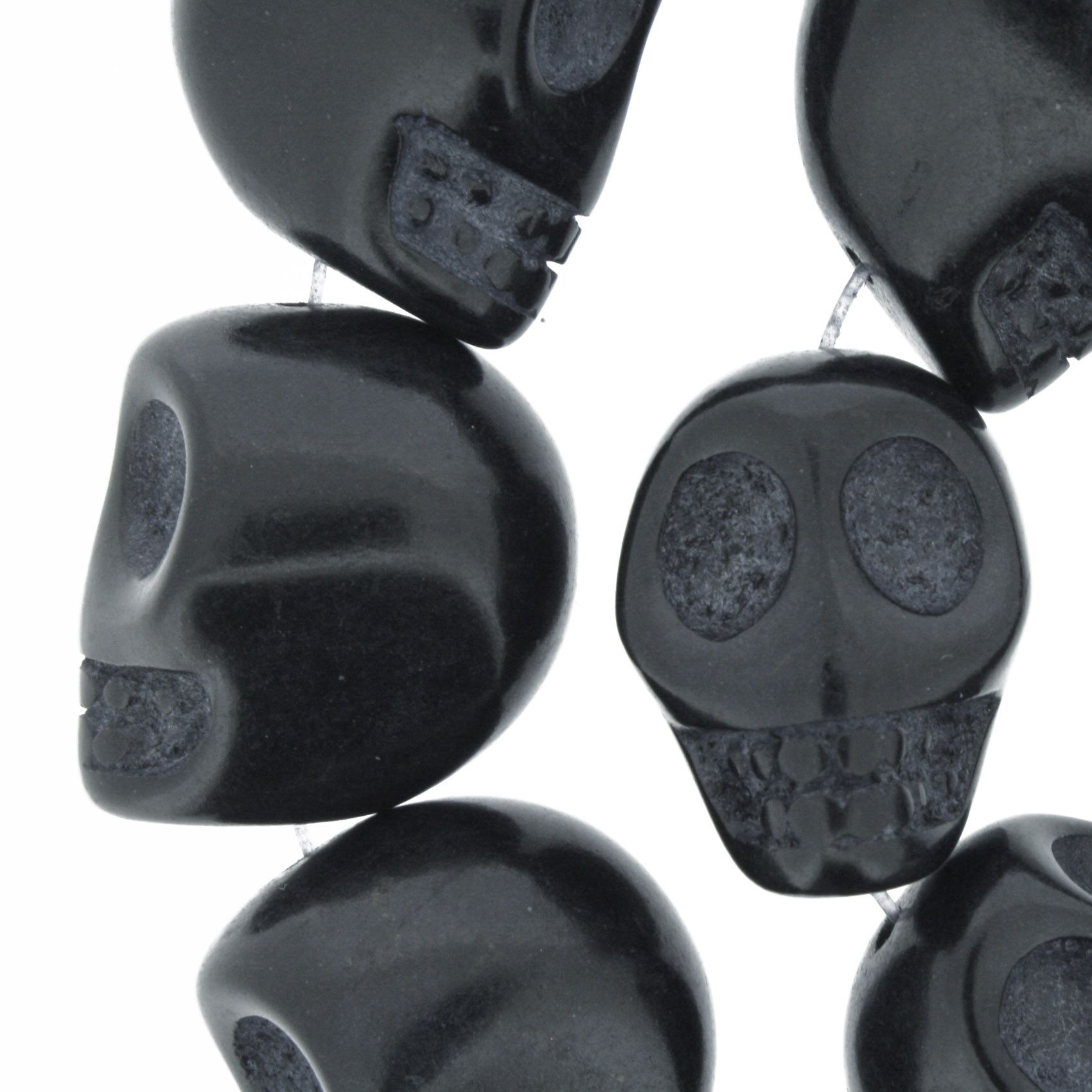 Fio de Caveira de Pedra - Preta - Grande - 22x17mm  - Universo Religioso® - Artigos de Umbanda e Candomblé