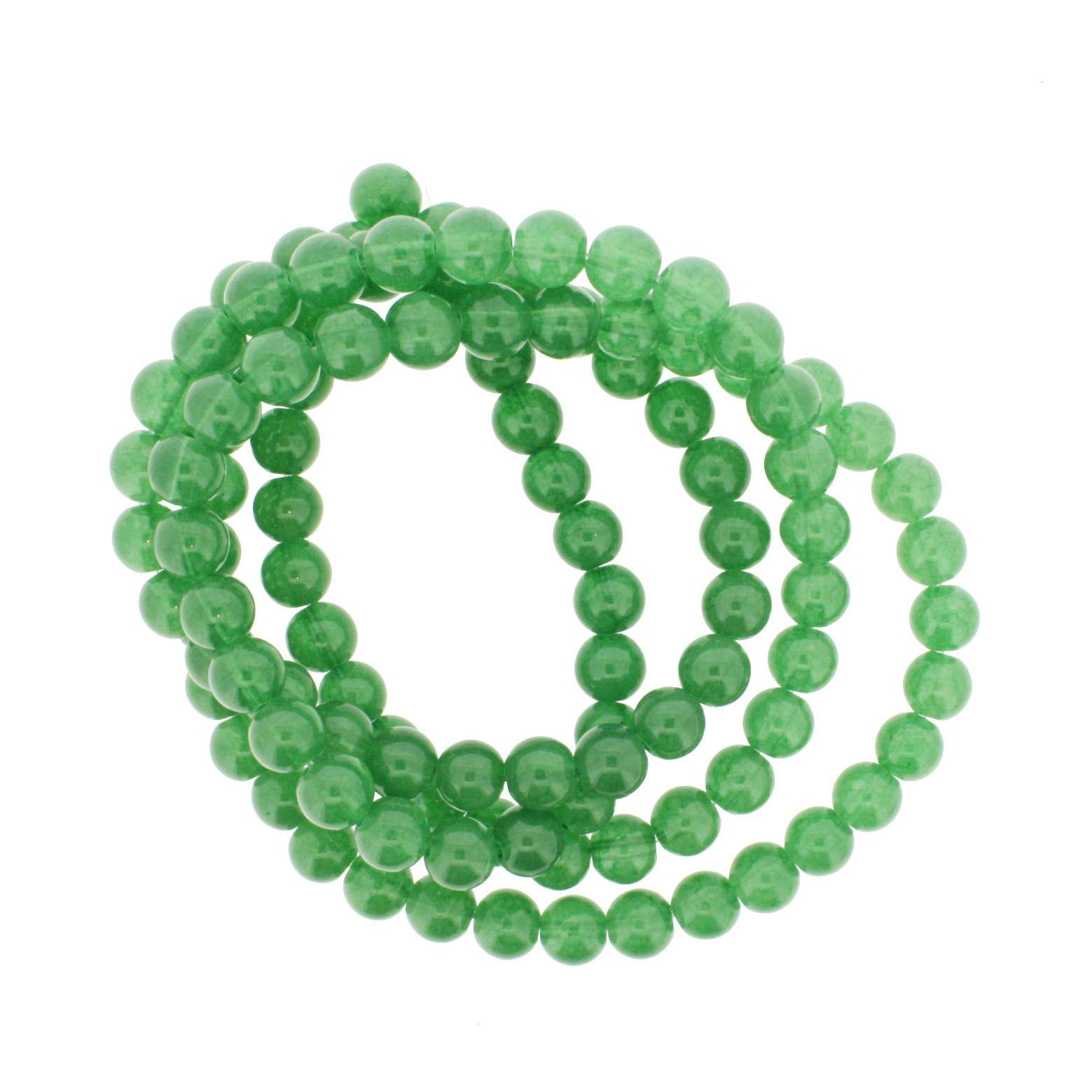 Fio de Contas Pintadas - Verde - 8mm  - Universo Religioso® - Artigos de Umbanda e Candomblé
