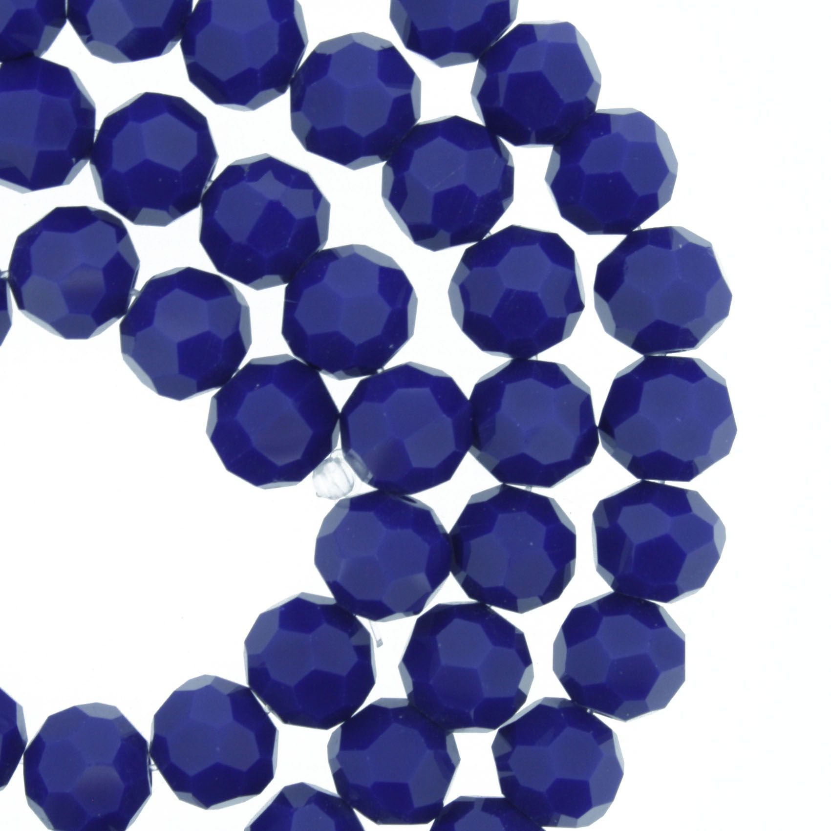Fio de Cristal - Bello® - Azul Royal - 8mm  - Universo Religioso® - Artigos de Umbanda e Candomblé