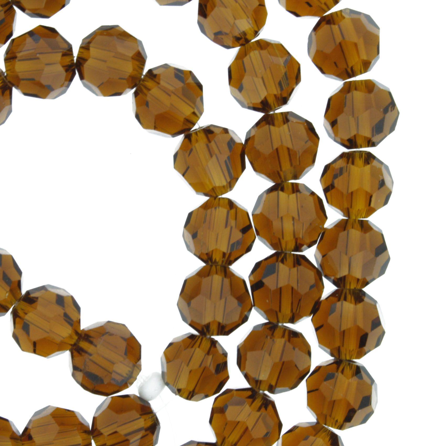 Fio de Cristal - Bello® - Marrom Transparente - 8mm  - Universo Religioso® - Artigos de Umbanda e Candomblé