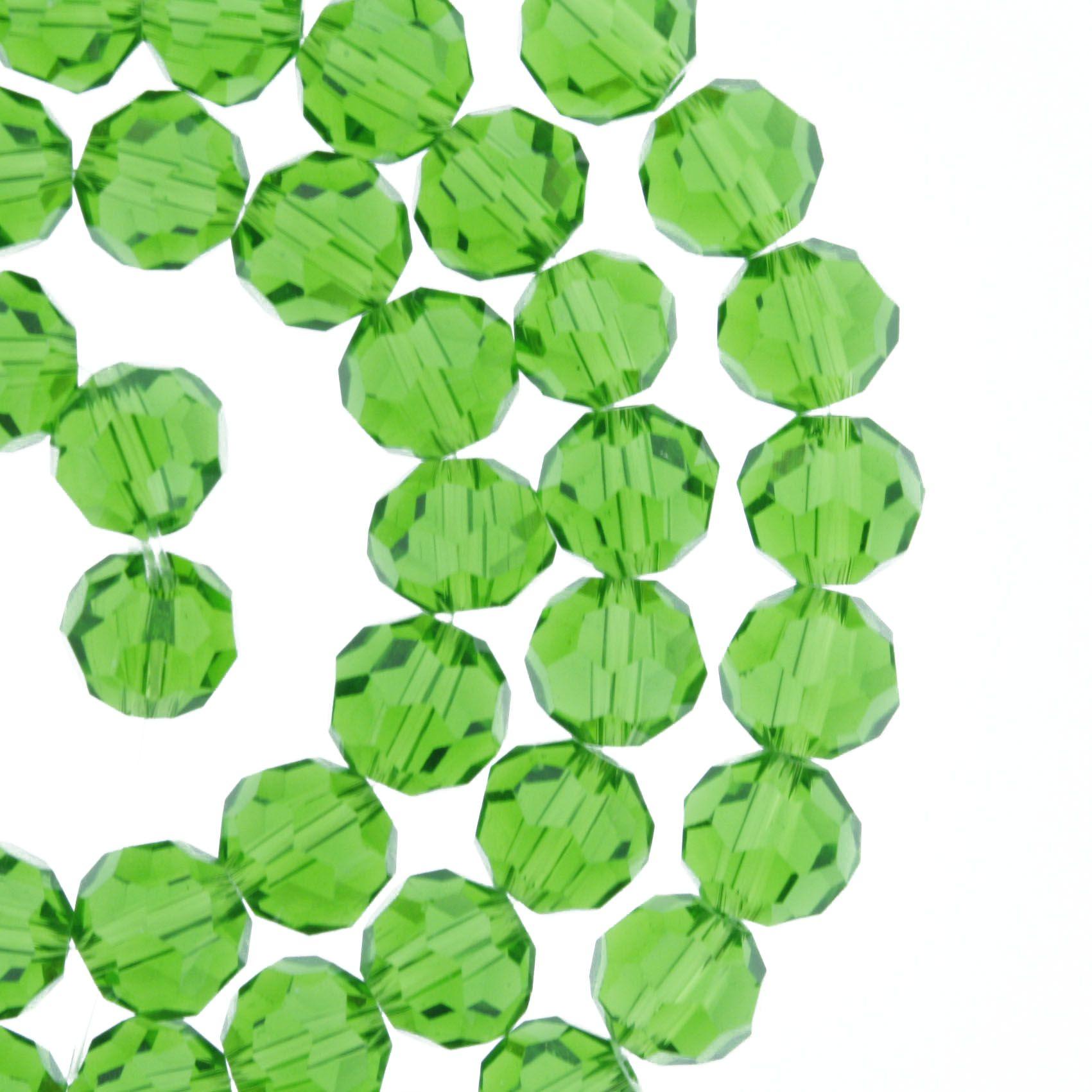 Fio de Cristal - Bello® - Verde Claro Transparente - 8mm  - Universo Religioso® - Artigos de Umbanda e Candomblé