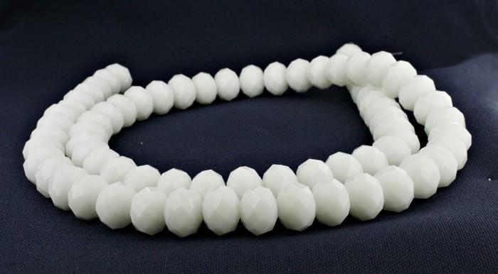 Fio de Cristal - Branco - 12mm - Pneu  - Universo Religioso® - Artigos de Umbanda e Candomblé