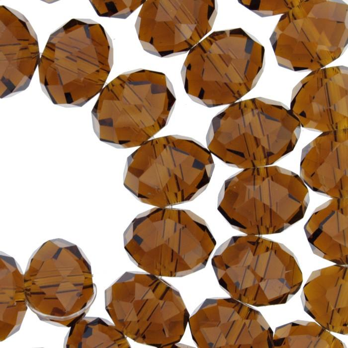 Fio de Cristal - Marrom - 12mm - Pneu  - Universo Religioso® - Artigos de Umbanda e Candomblé