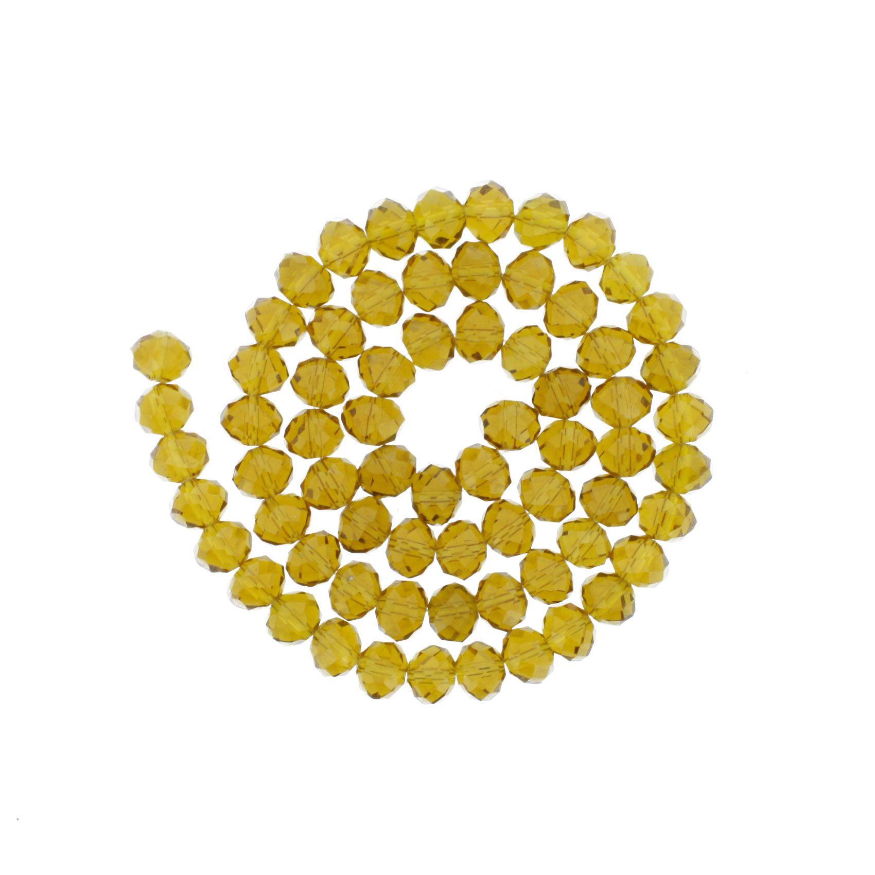 Fio de Cristal - Piatto® - Âmbar - 10mm  - Universo Religioso® - Artigos de Umbanda e Candomblé