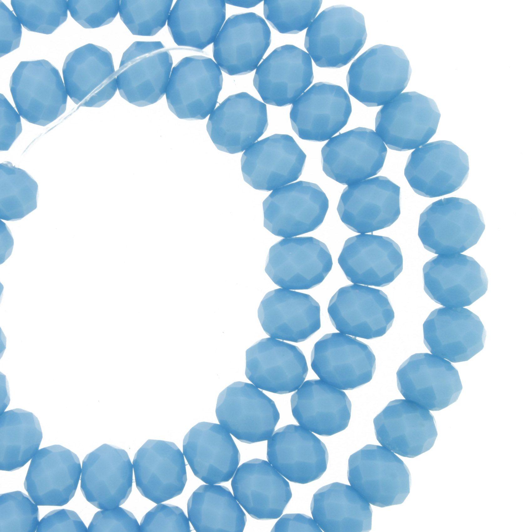 Fio de Cristal - Piatto® - Azul Claro - 6mm  - Universo Religioso® - Artigos de Umbanda e Candomblé